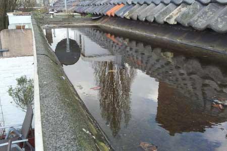 hemelwaterafvoer plat dak
