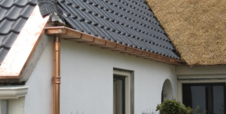 koperen dakgoot herstellen